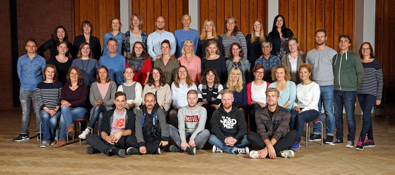 Wir arbeiten zusammen: das Lehrerkollegium und das GBS-Team!
